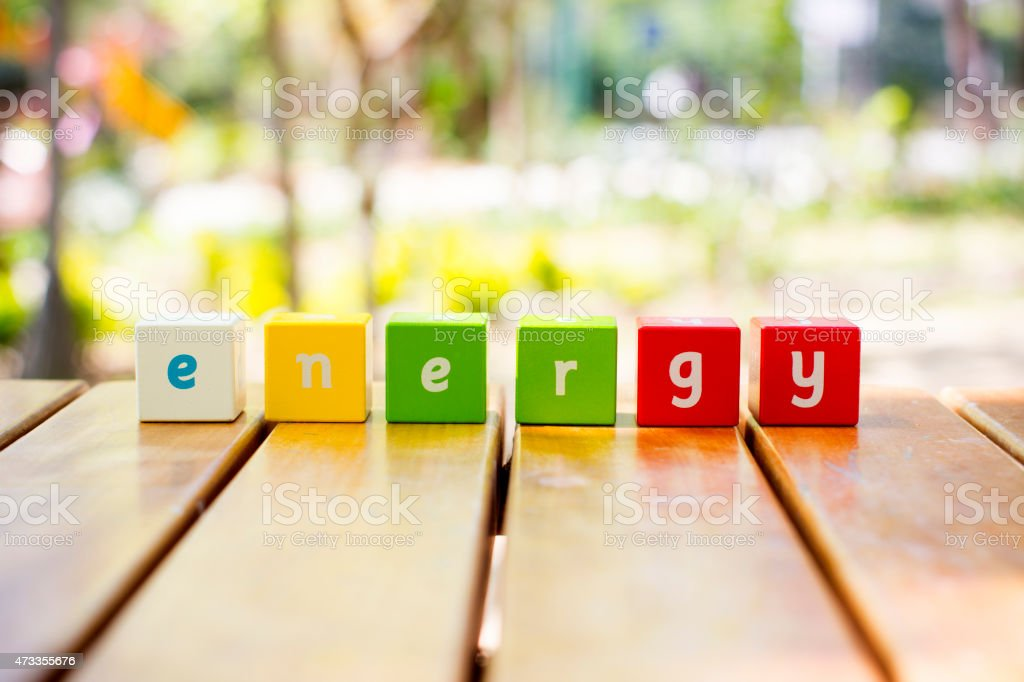 Energy , word stock photo