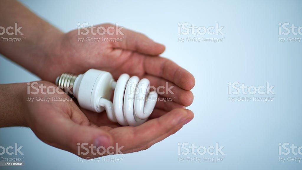 Energy-saving lamp stock photo