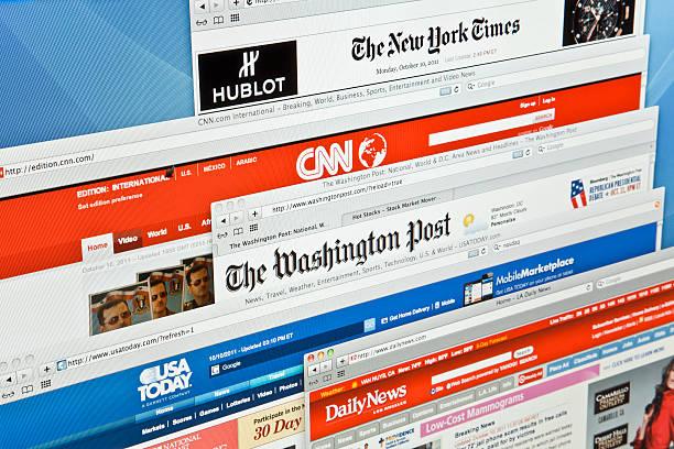 e-news - new york times stock-fotos und bilder