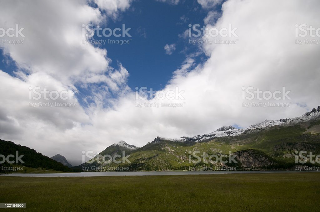Engadine lakes. royalty-free stock photo