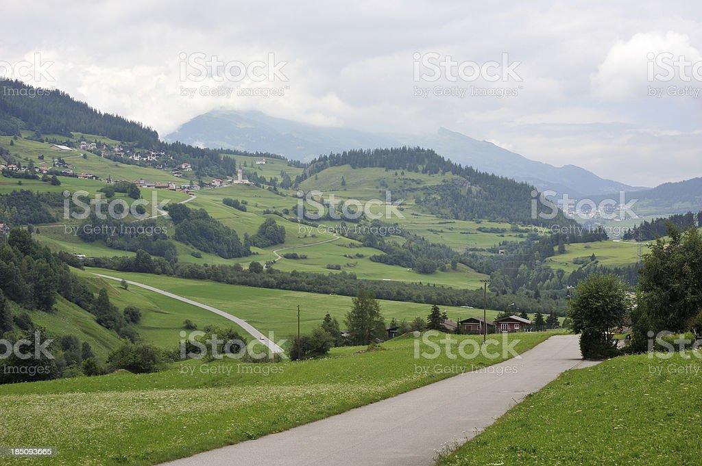 Engadine Valley in Switzerland royalty-free stock photo