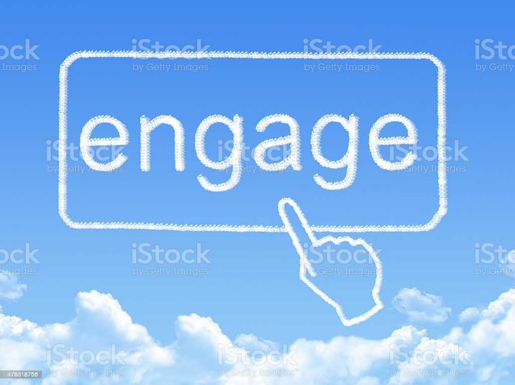 engage message cloud shape stock photo