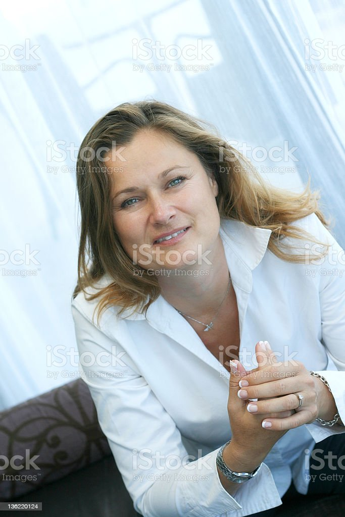 Engaged mature business woman royalty-free stock photo