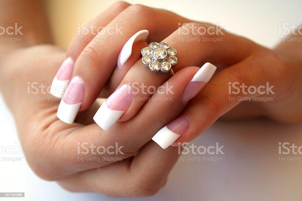 Engaged! royalty-free stock photo