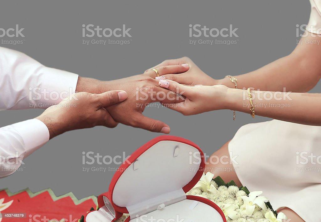 Engaged royalty-free stock photo