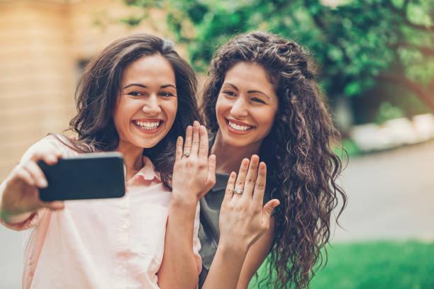 Engaged! stock photo