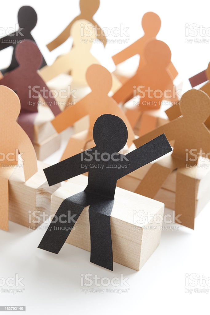 Engaged student - classroom paper concept royalty-free stock photo