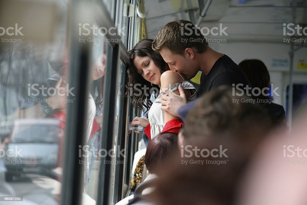 engagement in the bus royalty-free stock photo