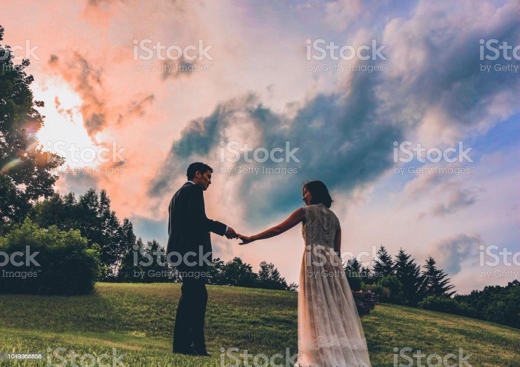 engagement stock photo