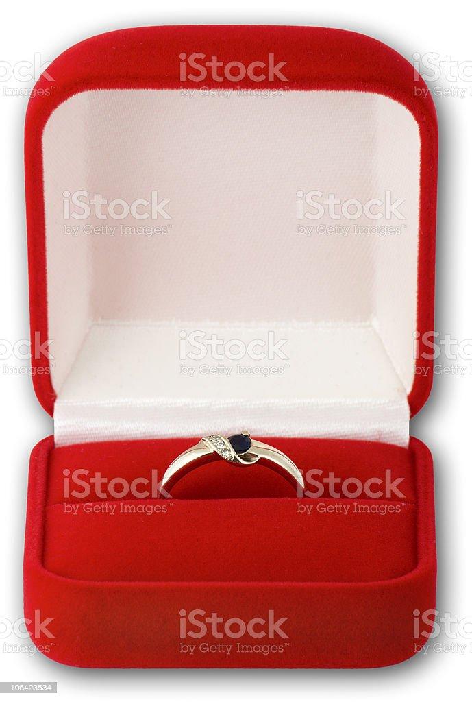 Engagement Ring on white background royalty-free stock photo