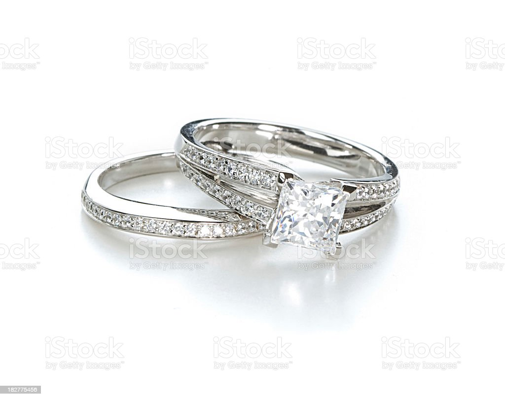Engagement Ring Set royalty-free stock photo