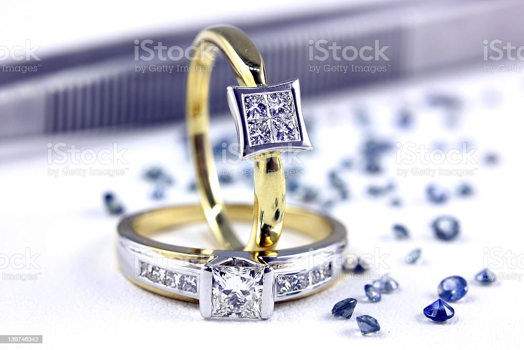 Engagement Rings 2 stock photo
