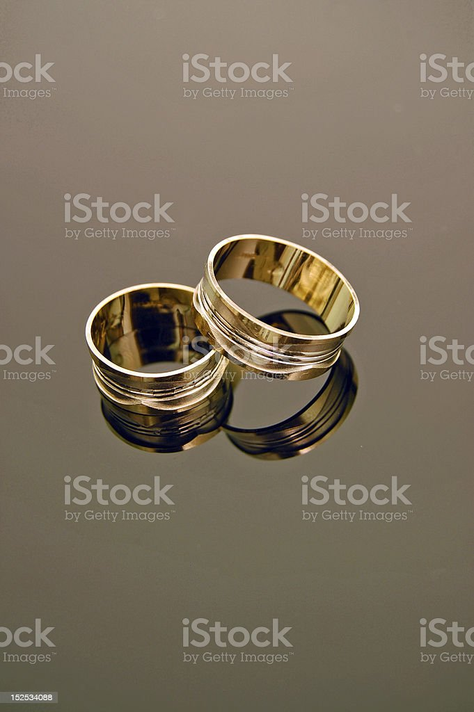 Engagement rings royalty-free stock photo