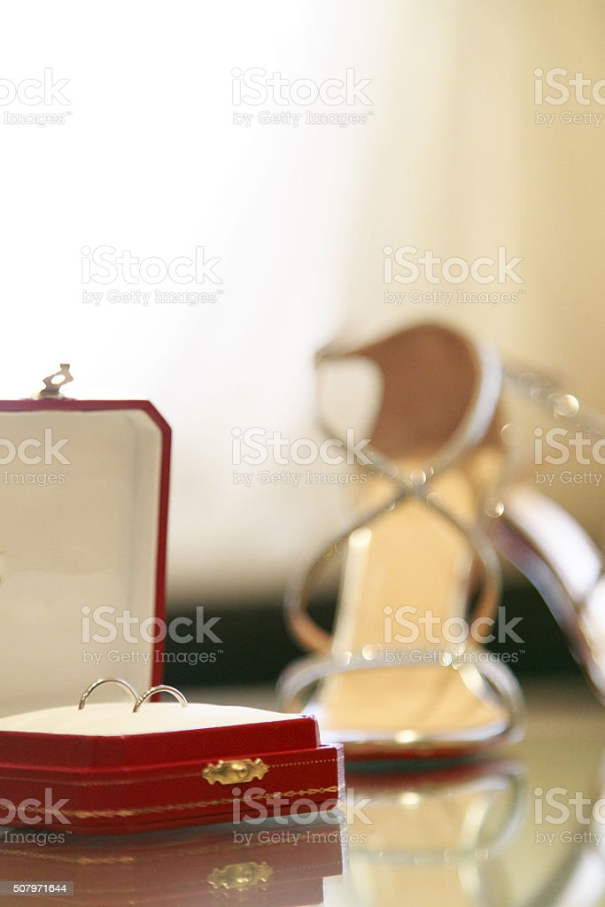 engagement rings stock photo