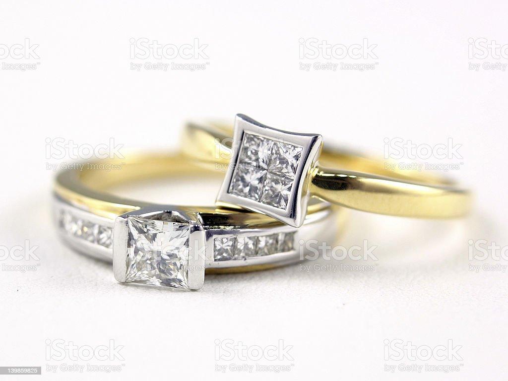 Engagment Rings stock photo