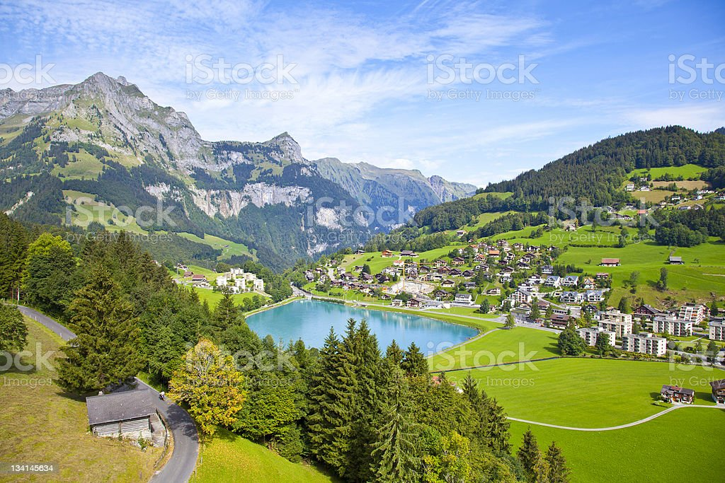 Engelberg Village, Switzerland stock photo