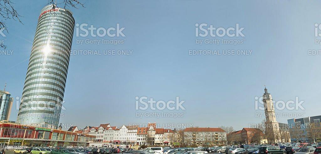 Engelplatz and church St. Michael in Jena /Germany stock photo