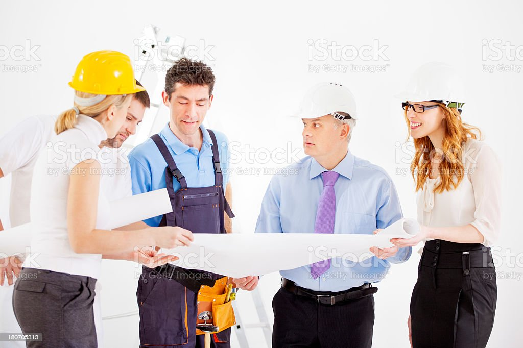 Engeneers Team At Construction Site royalty-free stock photo