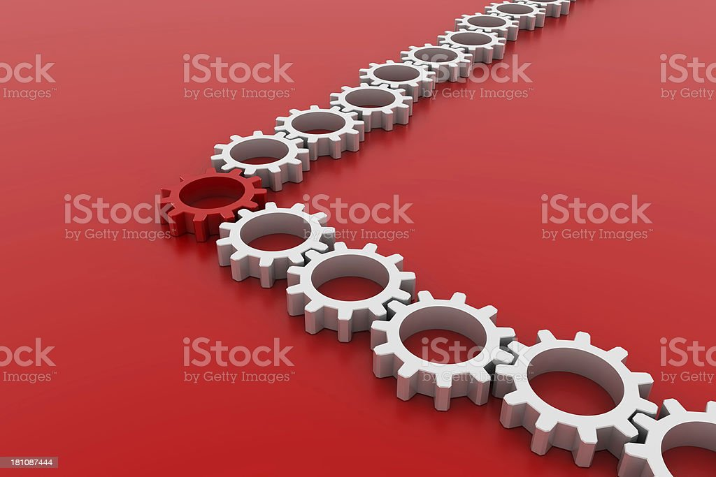 Engine arrow royalty-free stock photo