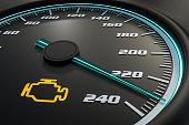 istock Engine check light on car dashboard 973673798