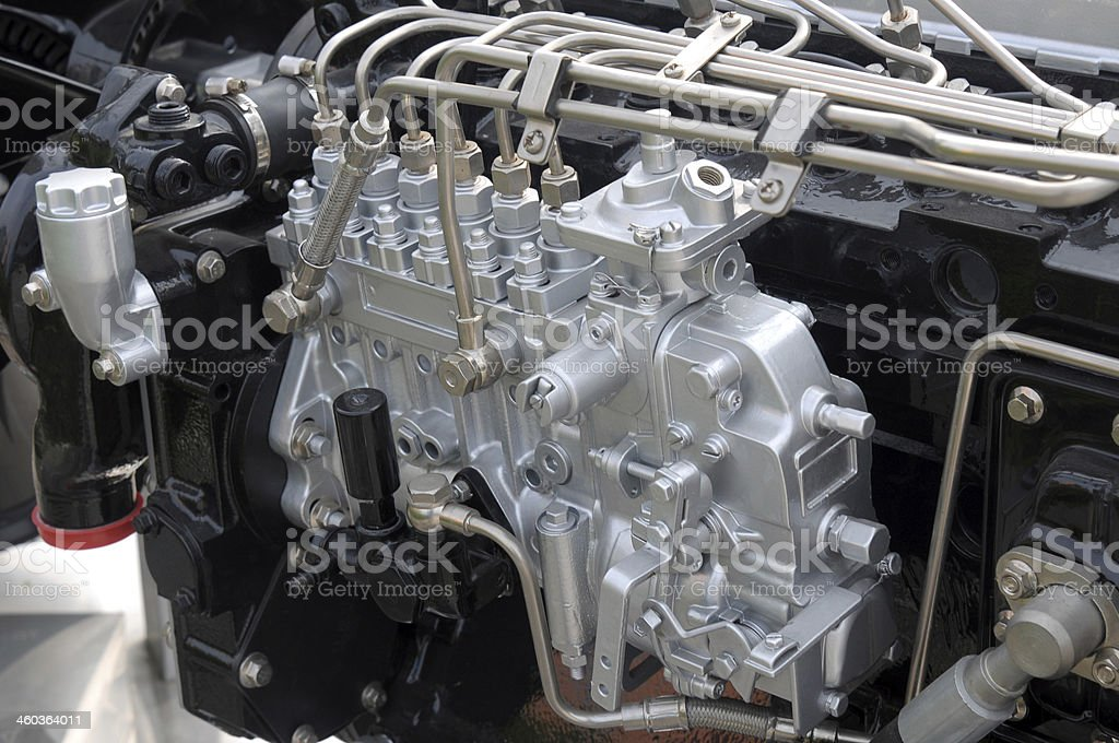 Engine close-up stock photo