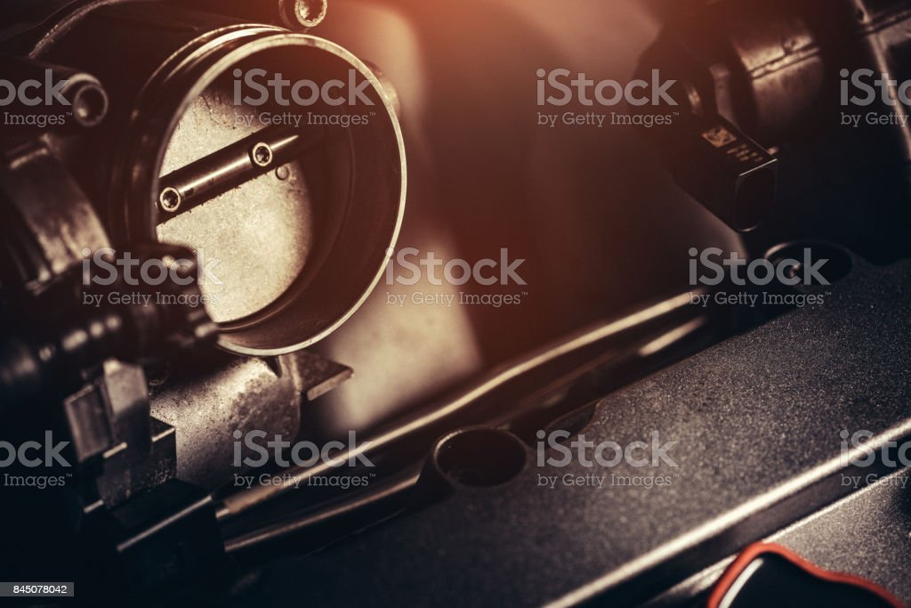 V10 Engine close-up stock photo