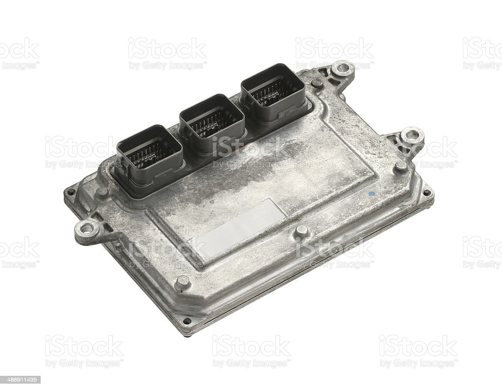 Engine control unit (ECU) stock photo