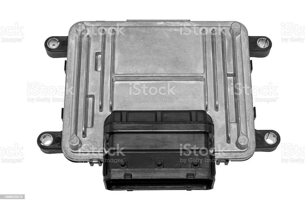 Engine controller on a white background stock photo