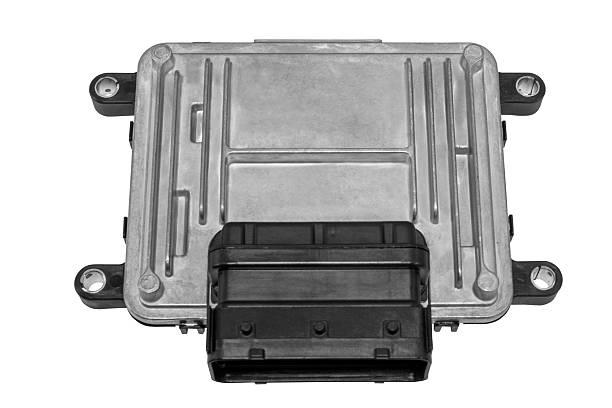 Controle de Motor em um fundo branco - foto de acervo