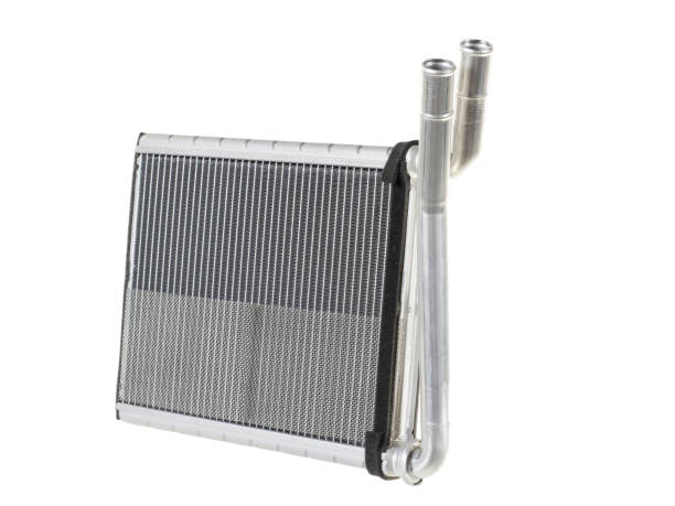 Engine cooling radiators stock photo