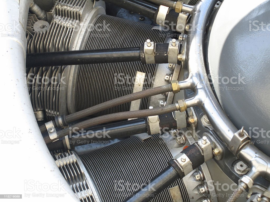 B-17 Engine Detail royalty-free stock photo