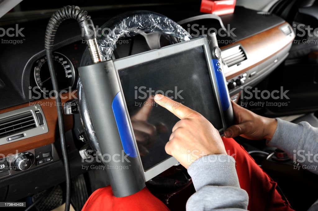 Engine failure detection royalty-free stock photo