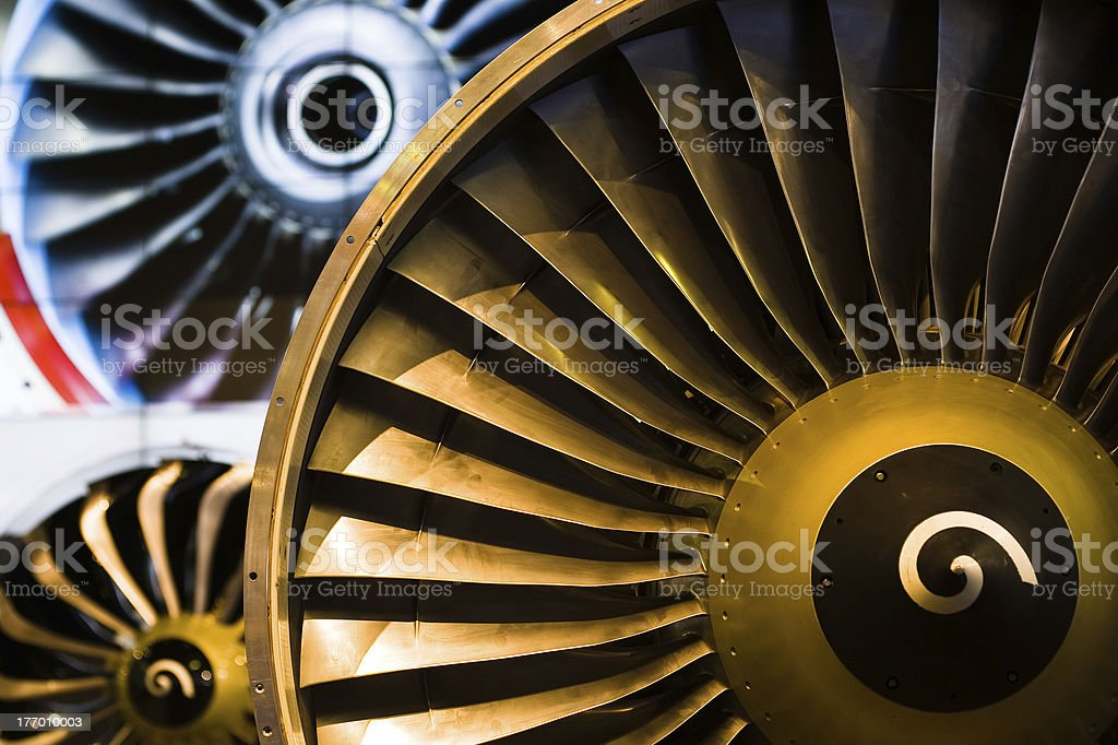engine fan in an exihibition stock photo