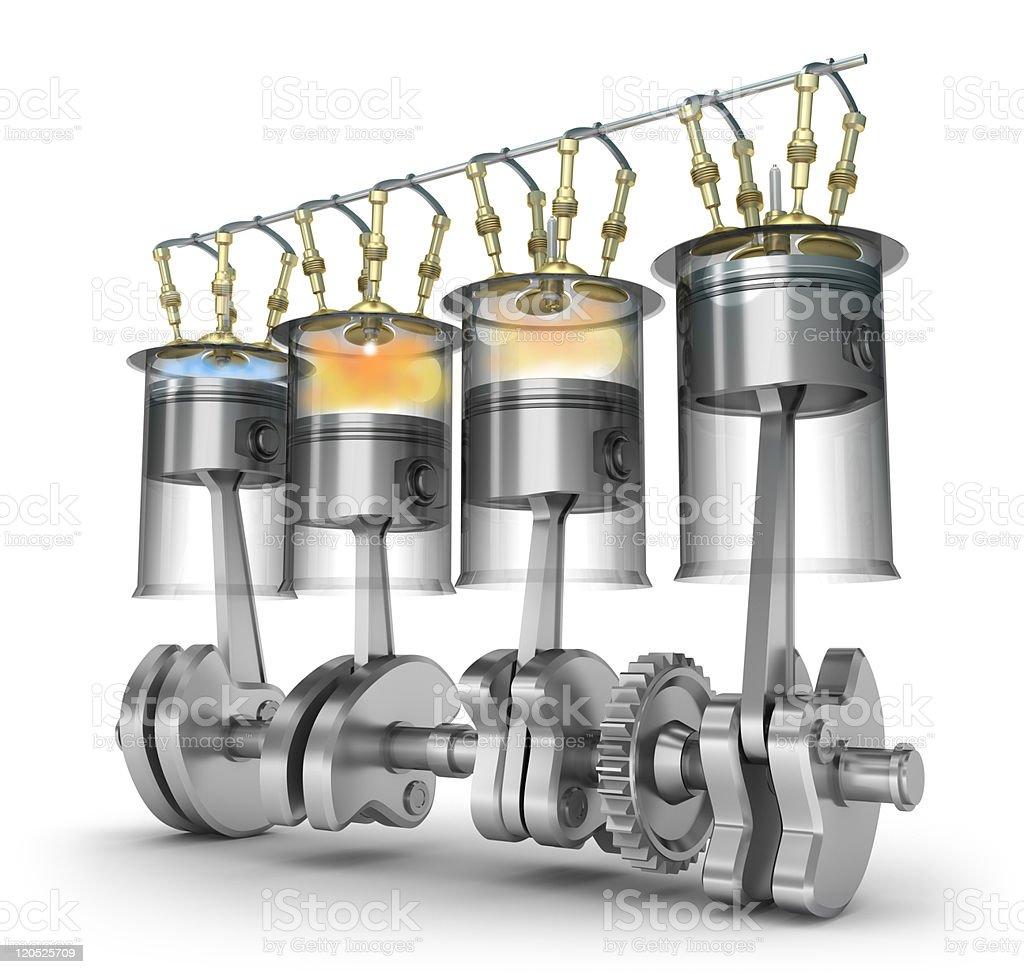 Engine function - operating principle royalty-free stock photo