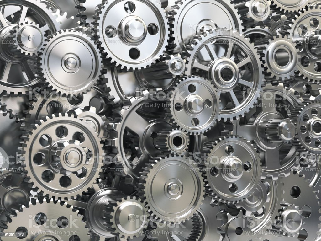 Engine gear wheels. Industrial and teamwork concept background. royalty-free stock photo