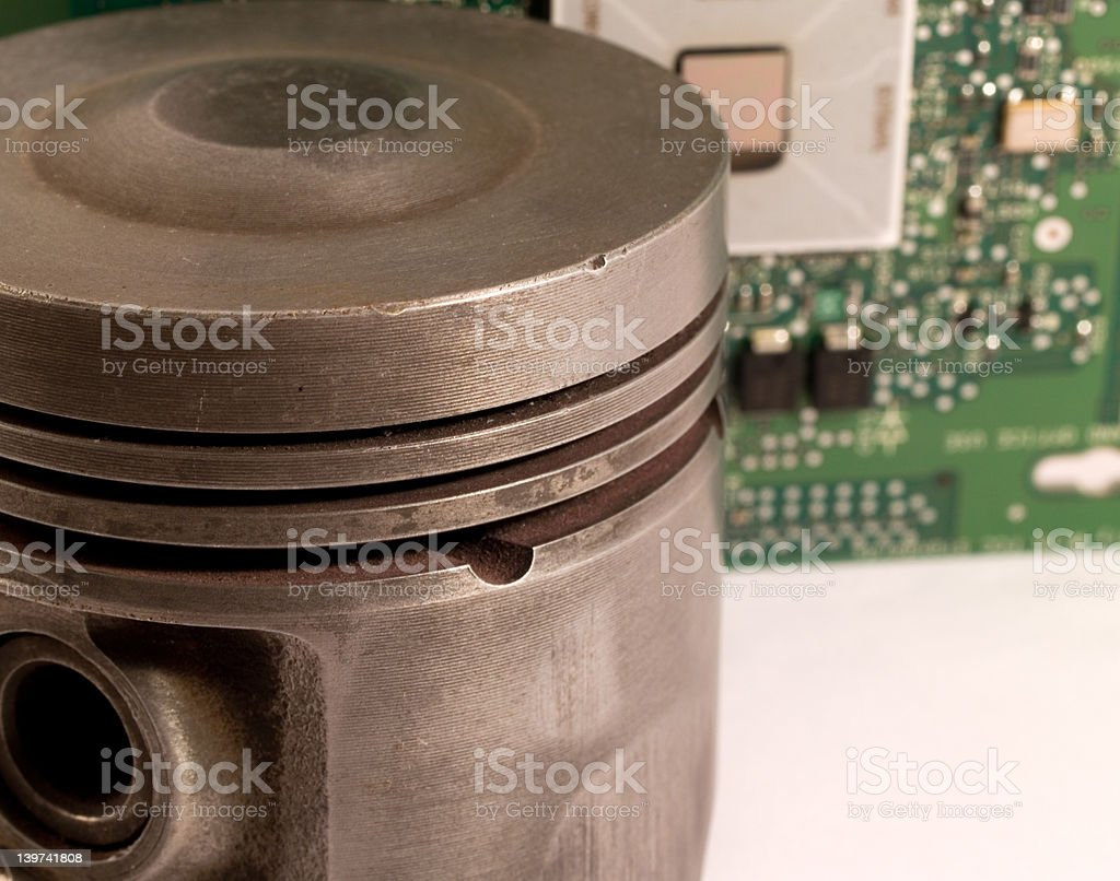Engine management stock photo