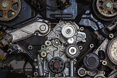 istock Engine of a car, detail 483992784
