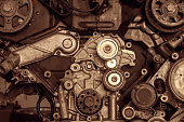 istock Engine of a car, detail 484793664