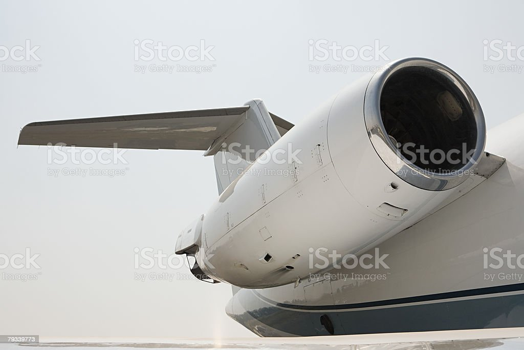 Engine of an private airplane royalty-free stock photo