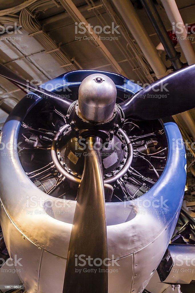 Engine of World War II Bomber Airplane royalty-free stock photo