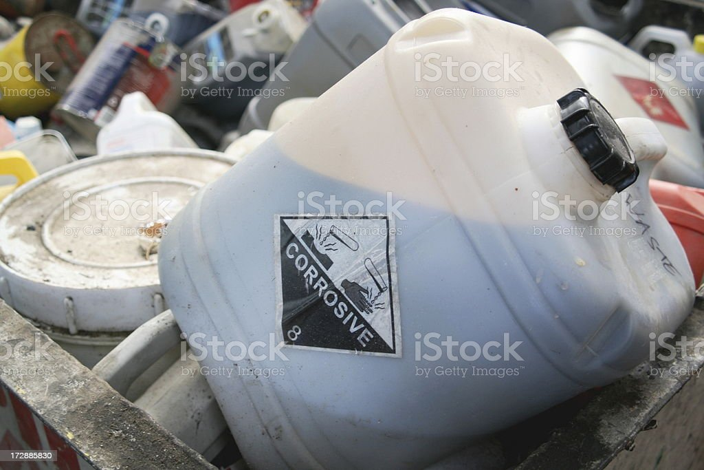 engine oil? at a waste collection facility stock photo