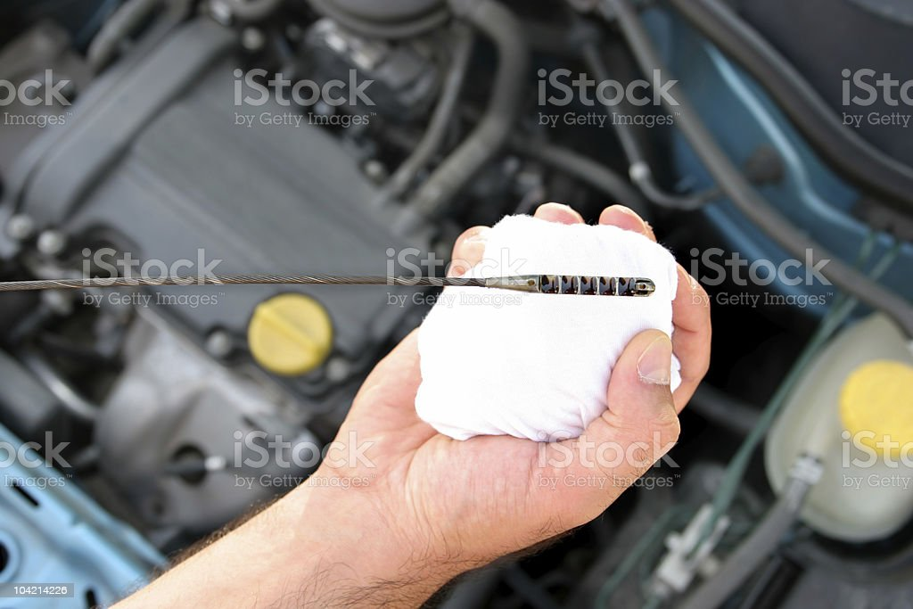 engine oil dipstick royalty-free stock photo