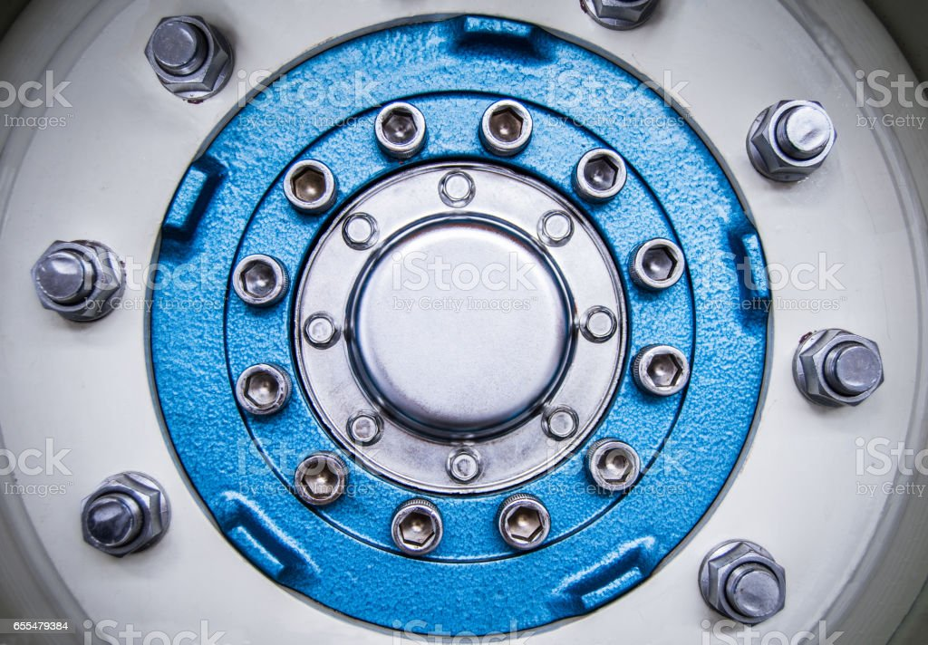 Engine Part Detail stock photo