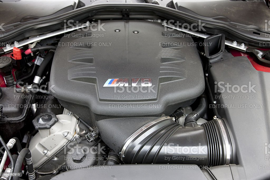 BMW M3 Engine royalty-free stock photo