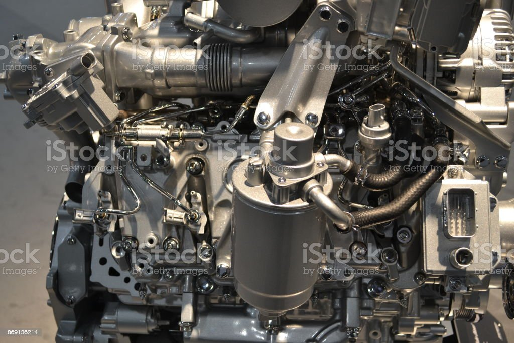 V8 Engine stock photo