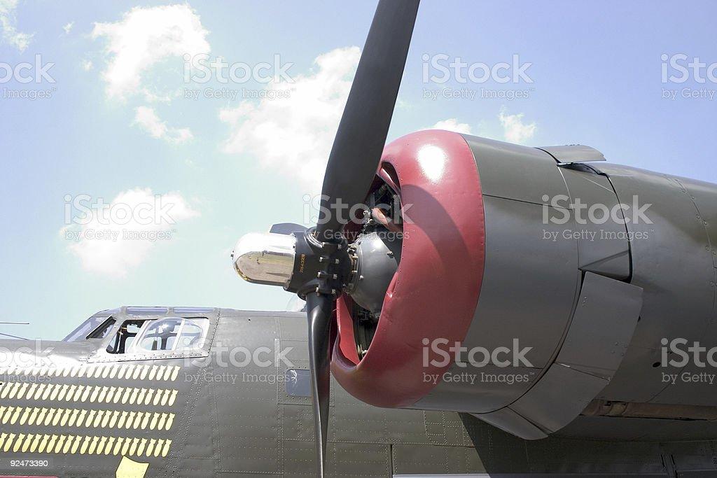 B-24 Engine royalty-free stock photo