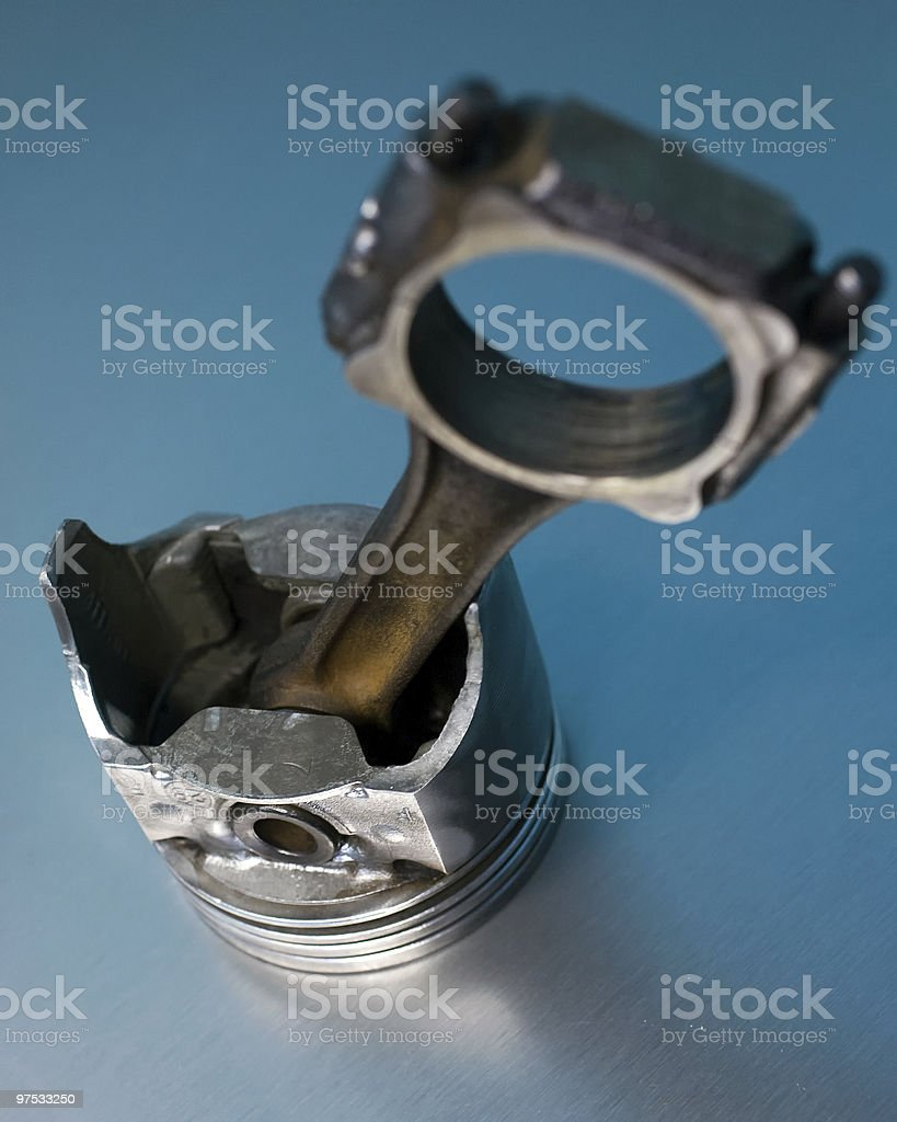 Engine piston & connecting rod royalty-free stock photo