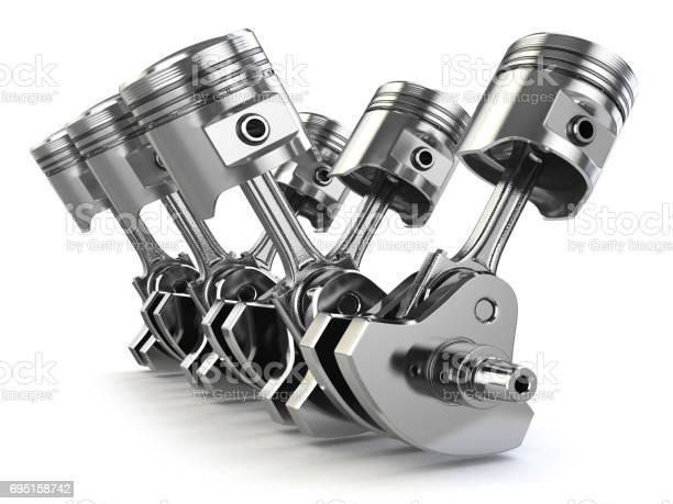 Engine pistons and crankshaft isolated on white background picture id695158742?b=1&k=6&m=695158742&s=612x612&h=ou xfpap6lofziwqpvsfdxdjxg2qodf9me8uu6fikju=