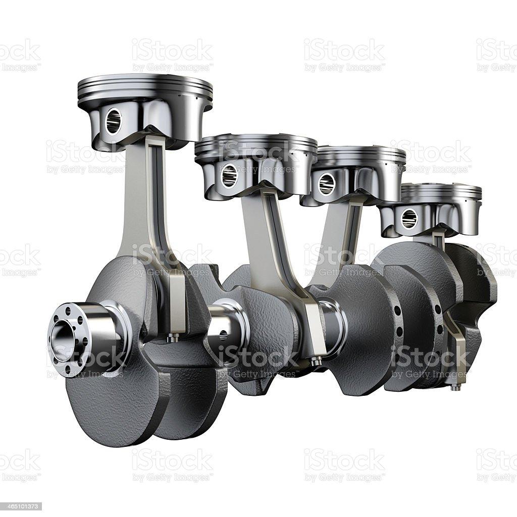 Motor Kolben Verbindungstür rod crankshaft ausmacht – Foto