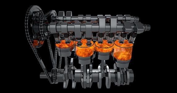 istock 3D V8 Engine Rendering 961804594
